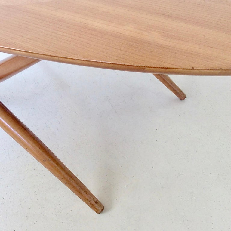 Rare Coffee Table Ovalette Model by Ilmari Tapiovaara, circa 1954, Finland For Sale 4