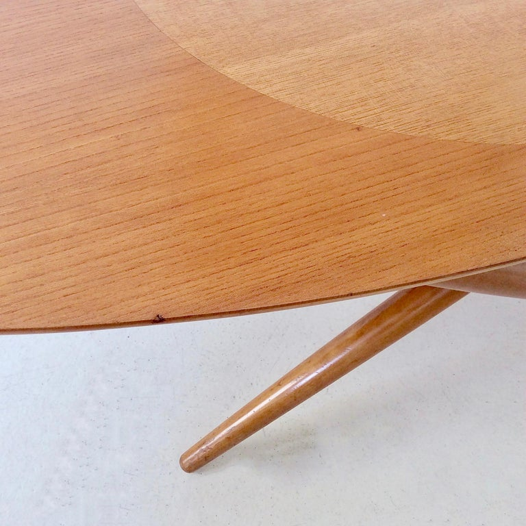 Rare Coffee Table Ovalette Model by Ilmari Tapiovaara, circa 1954, Finland For Sale 5