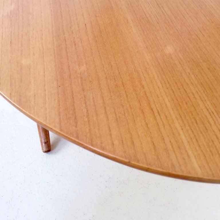 Rare Coffee Table Ovalette Model by Ilmari Tapiovaara, circa 1954, Finland For Sale 6