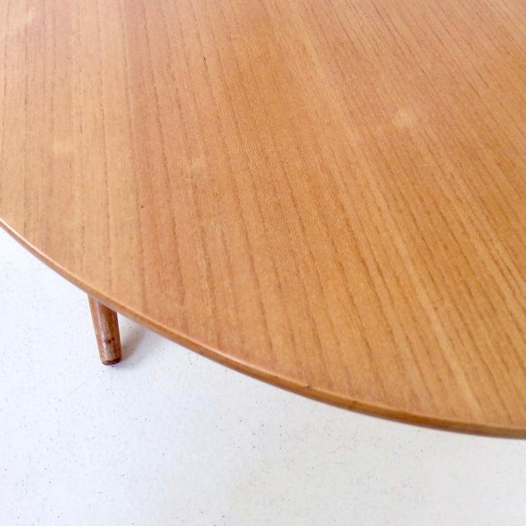 Rare Coffee Table Ovalette Model by Ilmari Tapiovaara, circa 1954, Finland For Sale 7