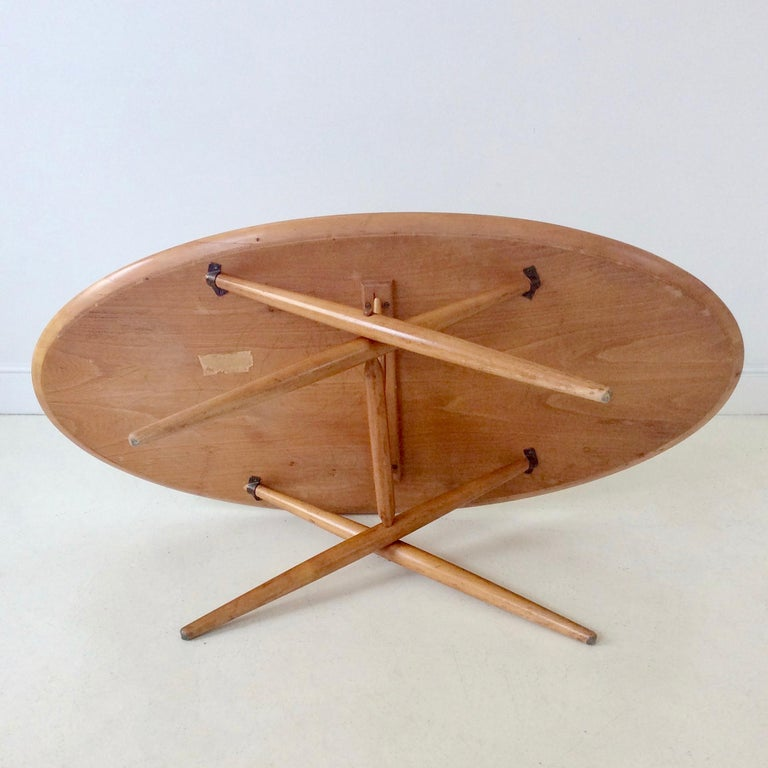 Rare Coffee Table Ovalette Model by Ilmari Tapiovaara, circa 1954, Finland For Sale 7