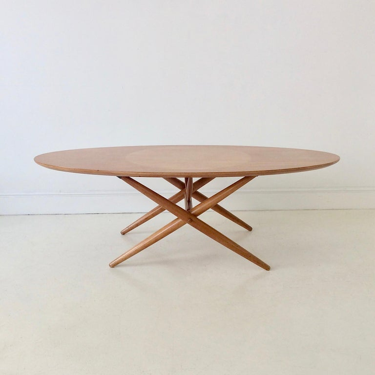 Rare Coffee Table Ovalette Model by Ilmari Tapiovaara, circa 1954, Finland For Sale 9
