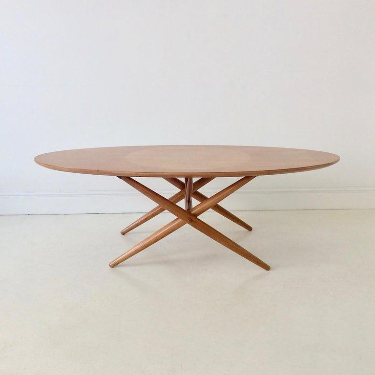 Rare Coffee Table Ovalette Model by Ilmari Tapiovaara, circa 1954, Finland For Sale 10