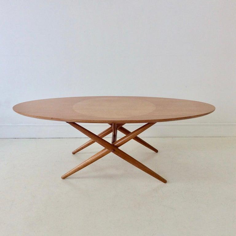 Finnish Rare Coffee Table Ovalette Model by Ilmari Tapiovaara, circa 1954, Finland For Sale