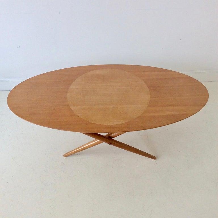 Rare Coffee Table Ovalette Model by Ilmari Tapiovaara, circa 1954, Finland For Sale 2