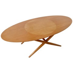 Rare Coffee Table Ovalette Model by Ilmari Tapiovaara, circa 1954, Finland