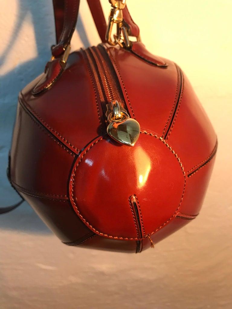 Italian Rare Collectable Vintage Moschino Football Hand Bag For Sale