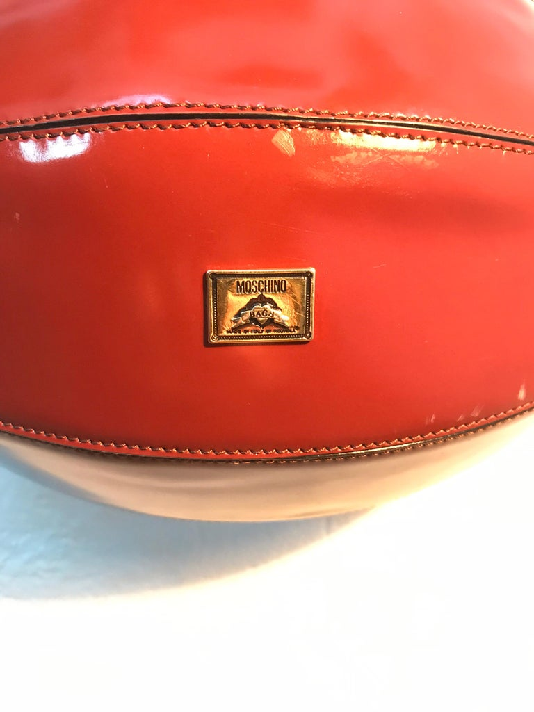 20th Century Rare Collectable Vintage Moschino Football Hand Bag For Sale