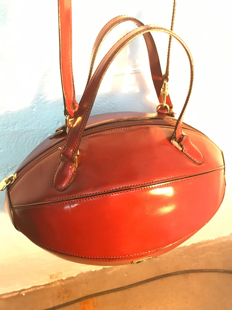 Leather Rare Collectable Vintage Moschino Football Hand Bag For Sale
