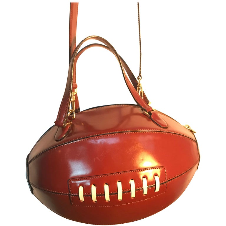 Rare Collectable Vintage Moschino Football Hand Bag For Sale