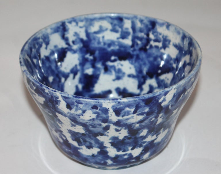 Rare Collection of 20 Sponge Ware Waste Bowls For Sale 2