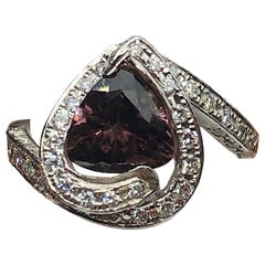 Rare Color Change Garnet Diamond Ring