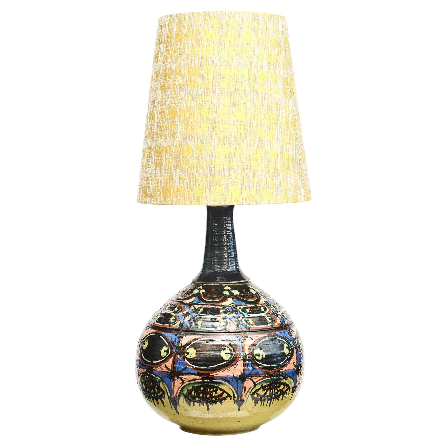 Rare Colossal 'One Of A Kind' Ceramic Lamp by Bjorn Wiinblad