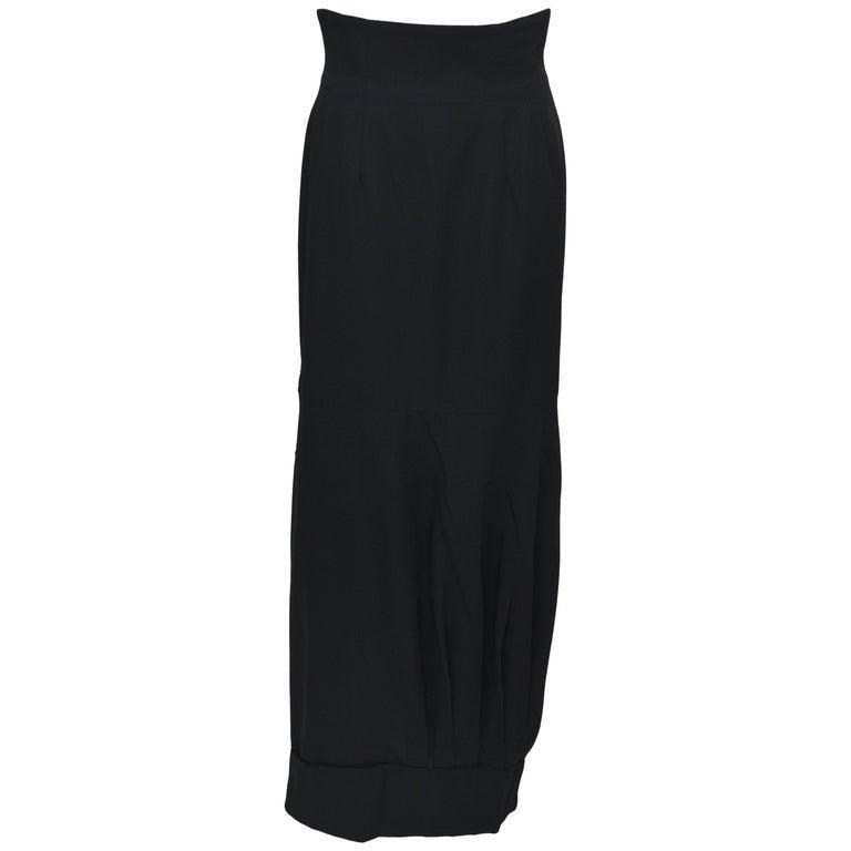 d3c42fa48a8 Rare Comme Des Garçons AD 1990 Upside Down Long Black Skirt For Sale at  1stdibs