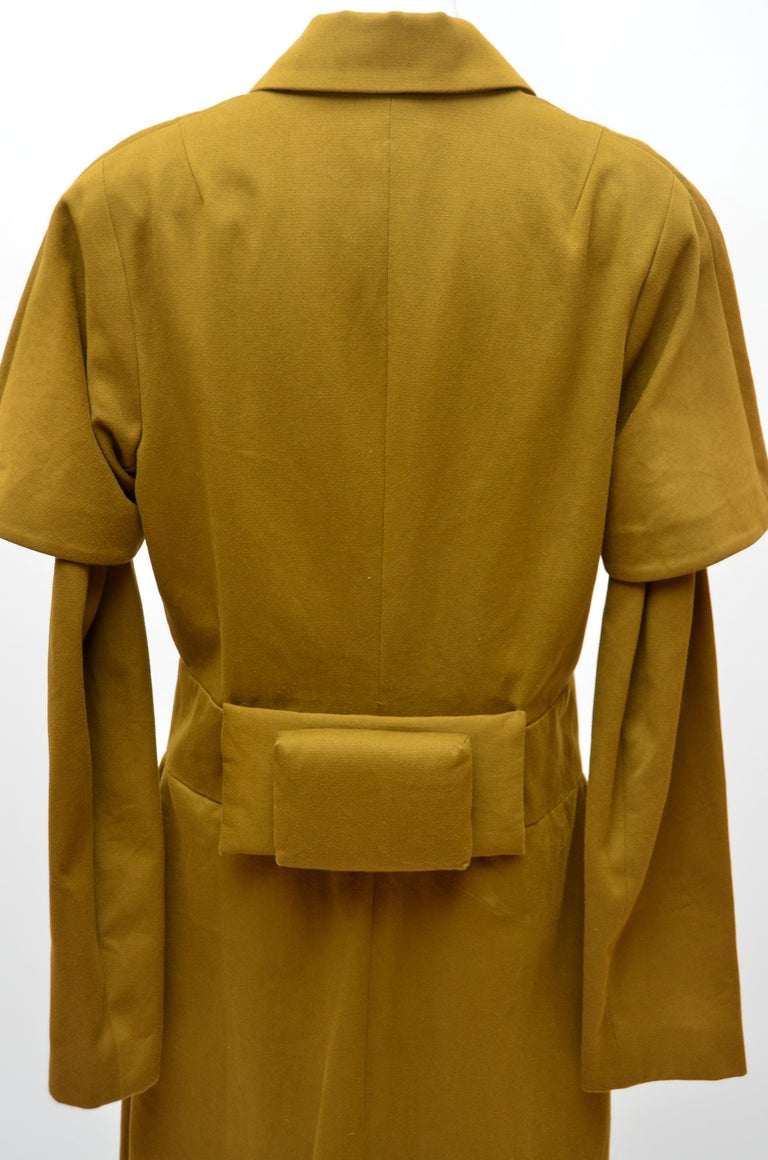 Rare Comme Des Garcons  'Obi' Style  Coat   1970's In Good Condition For Sale In New York, NY
