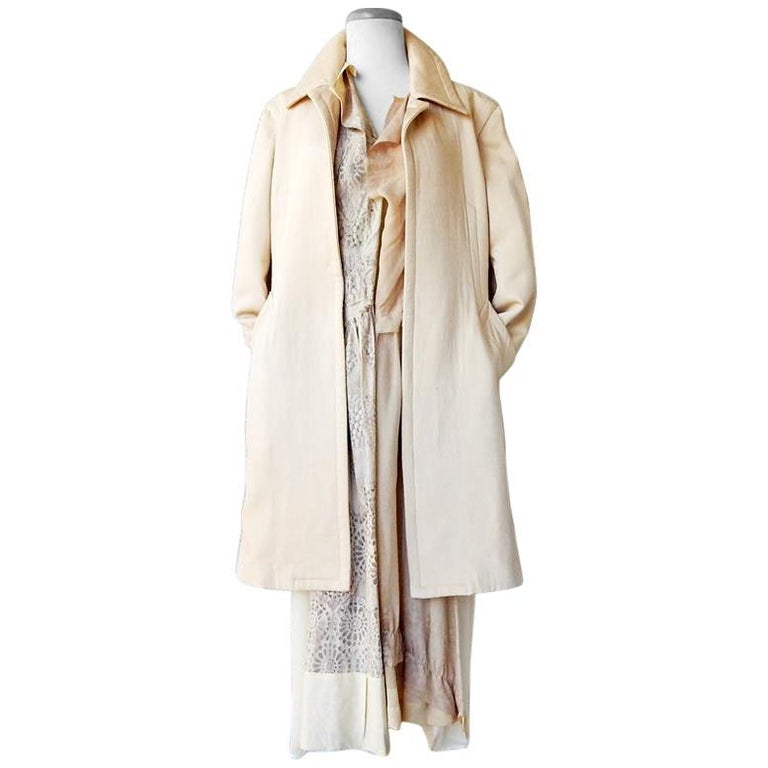 "Rare Comme des Garcons Runway ""Broken Bride"" Wedding Ensemble Coat & Dress For Sale"