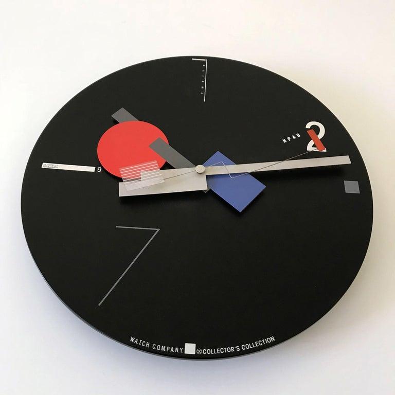 Rare Constructivist Art Time Artec Wall Clock By Canetti