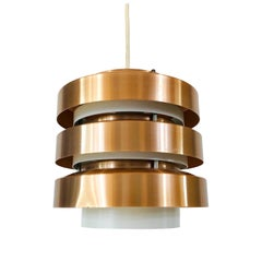 Rare Copper and Metal Pendant Lamp from DDR, 1960s