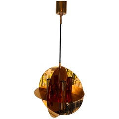Rare Copper Pendant Lamp by Cosack, 1970s