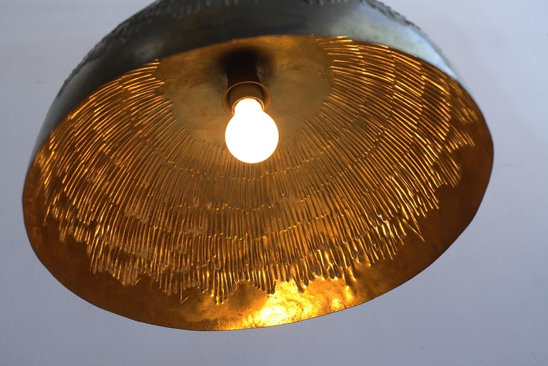 Mid-Century Modern Copper Svend Aage Holm Sorensen Pendant Lamp for Holm Sorensen and Company For Sale