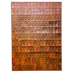 Rare Copper Wall Panelling Cladding by Edit Oborzil, 1971