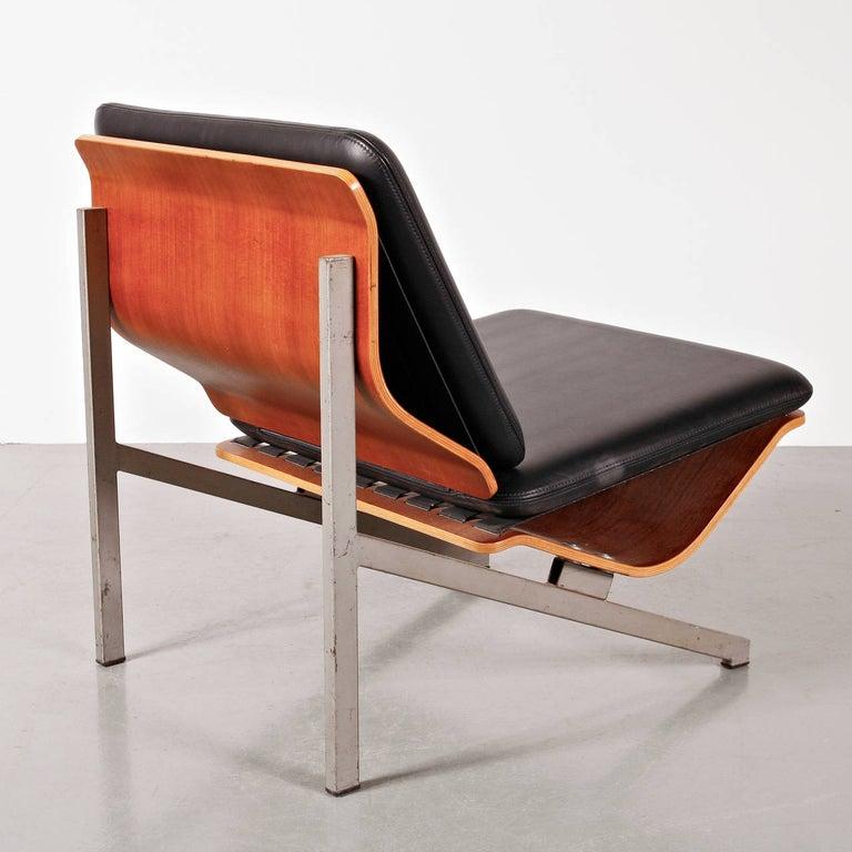 Dutch Rare Cornelis Zitman Leather Easy Chair, 1964 For Sale