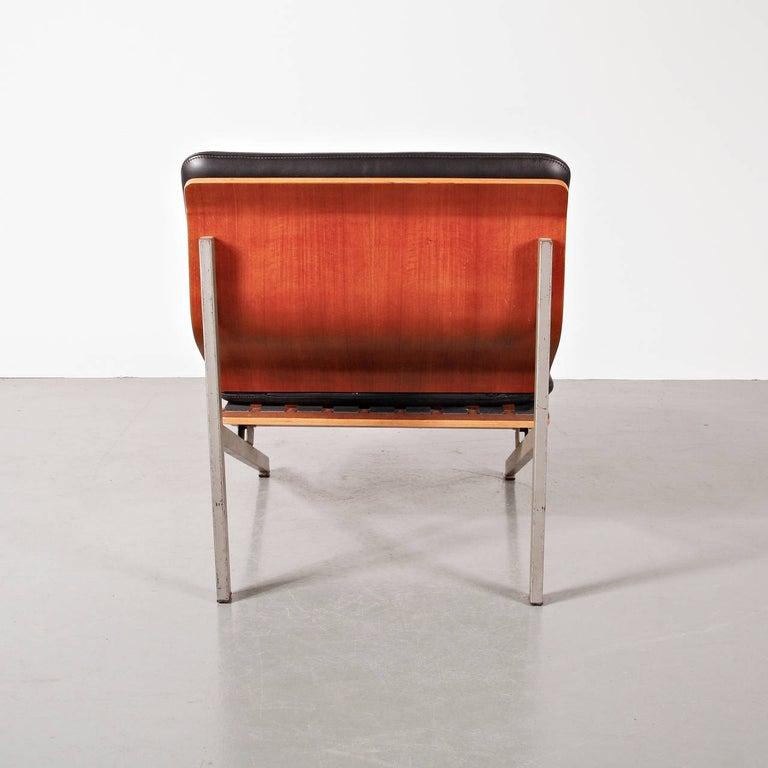 20th Century Rare Cornelis Zitman Leather Easy Chair, 1964 For Sale