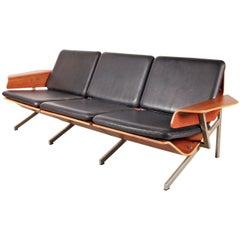 Rare Cornelis Zitman Three-Seat Leather Sofa, 1964
