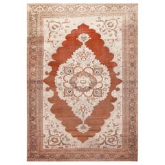 Rare Cotton and Wool Antique Persian Tabriz Rug. Size: 10 ft 3 in x 14 ft 10 in