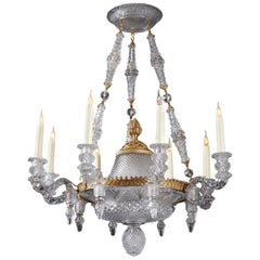 Rare Crystal Chandelier Attributed to Baccarat, France, Circa 1880