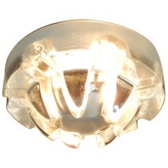 Rare 'Crystal Palace' Wall or Ceiling Lamp for RAAK, 1970s, 4 Available
