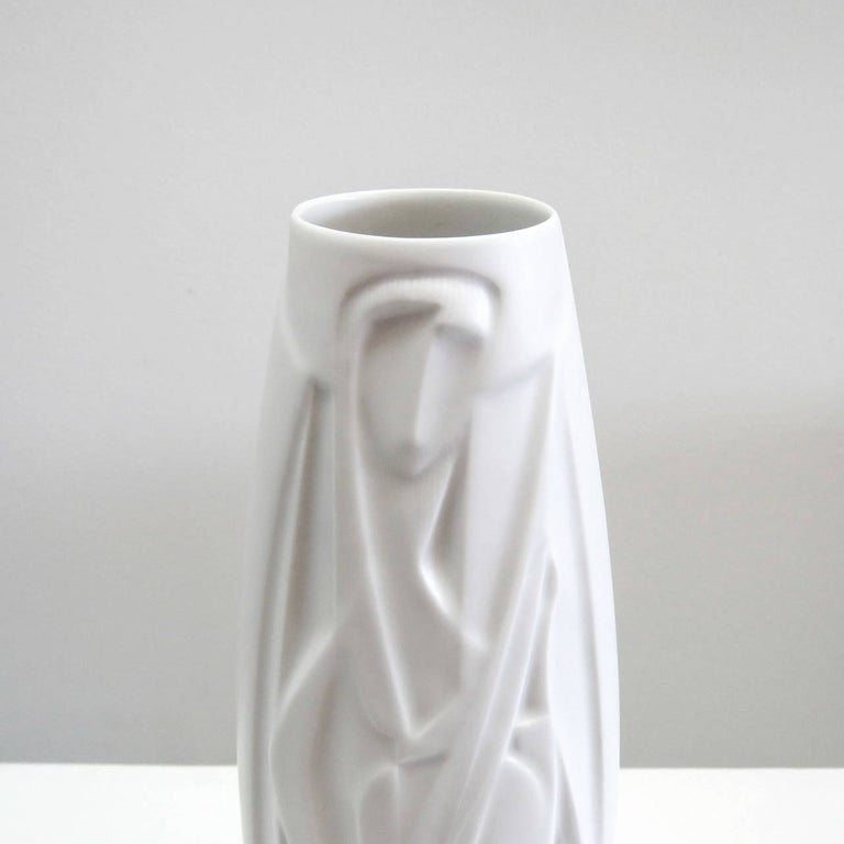 Late 20th Century Rare Cuno Fischer Vase 'The Lute Player', 1970 For Sale