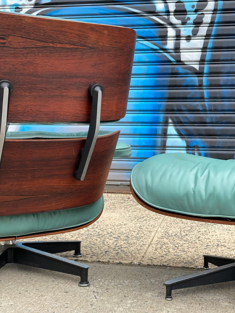 Mid-Century Modern Rare Custom Herman Miller Eames Lounge Chair and Ottoman For Sale