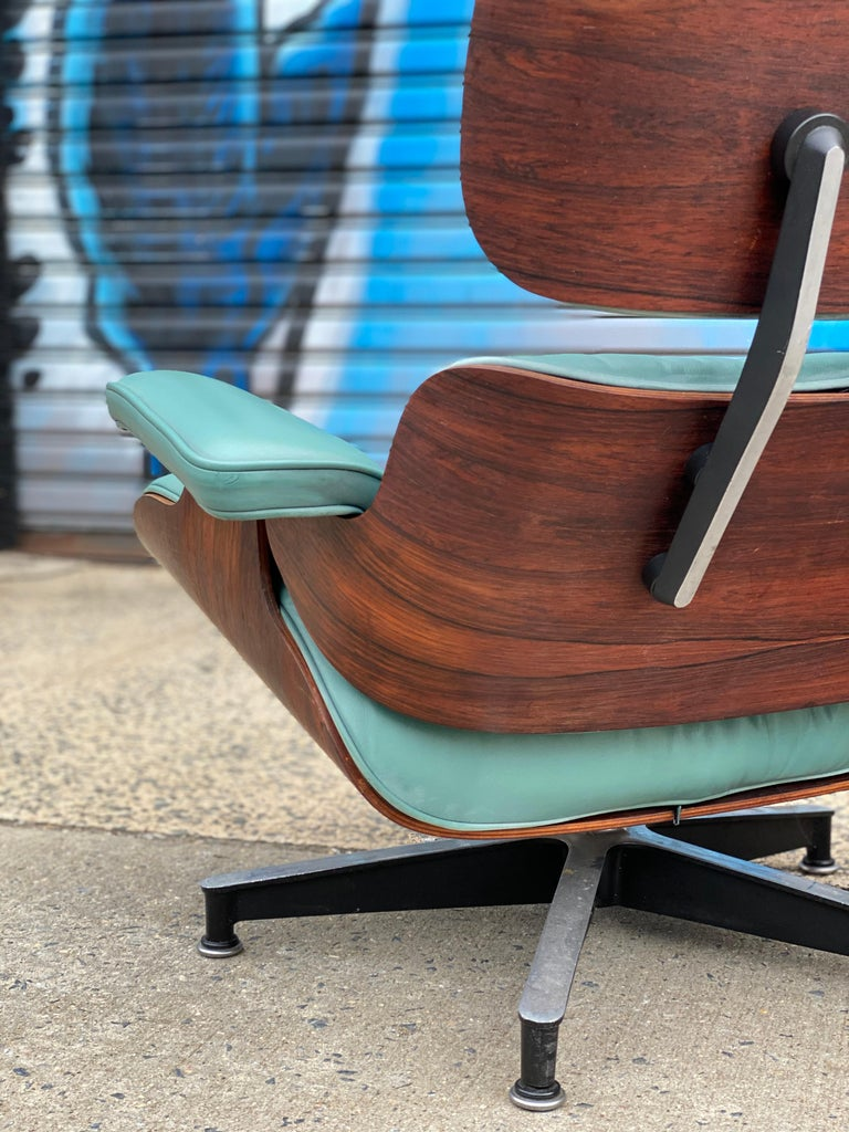 20th Century Rare Custom Herman Miller Eames Lounge Chair and Ottoman For Sale