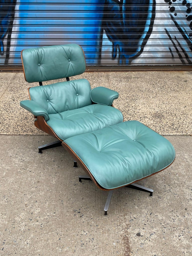 Leather Rare Custom Herman Miller Eames Lounge Chair and Ottoman For Sale