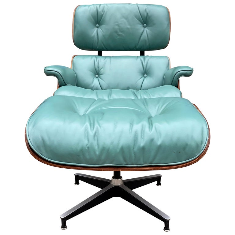 Rare Custom Herman Miller Eames Lounge Chair and Ottoman For Sale