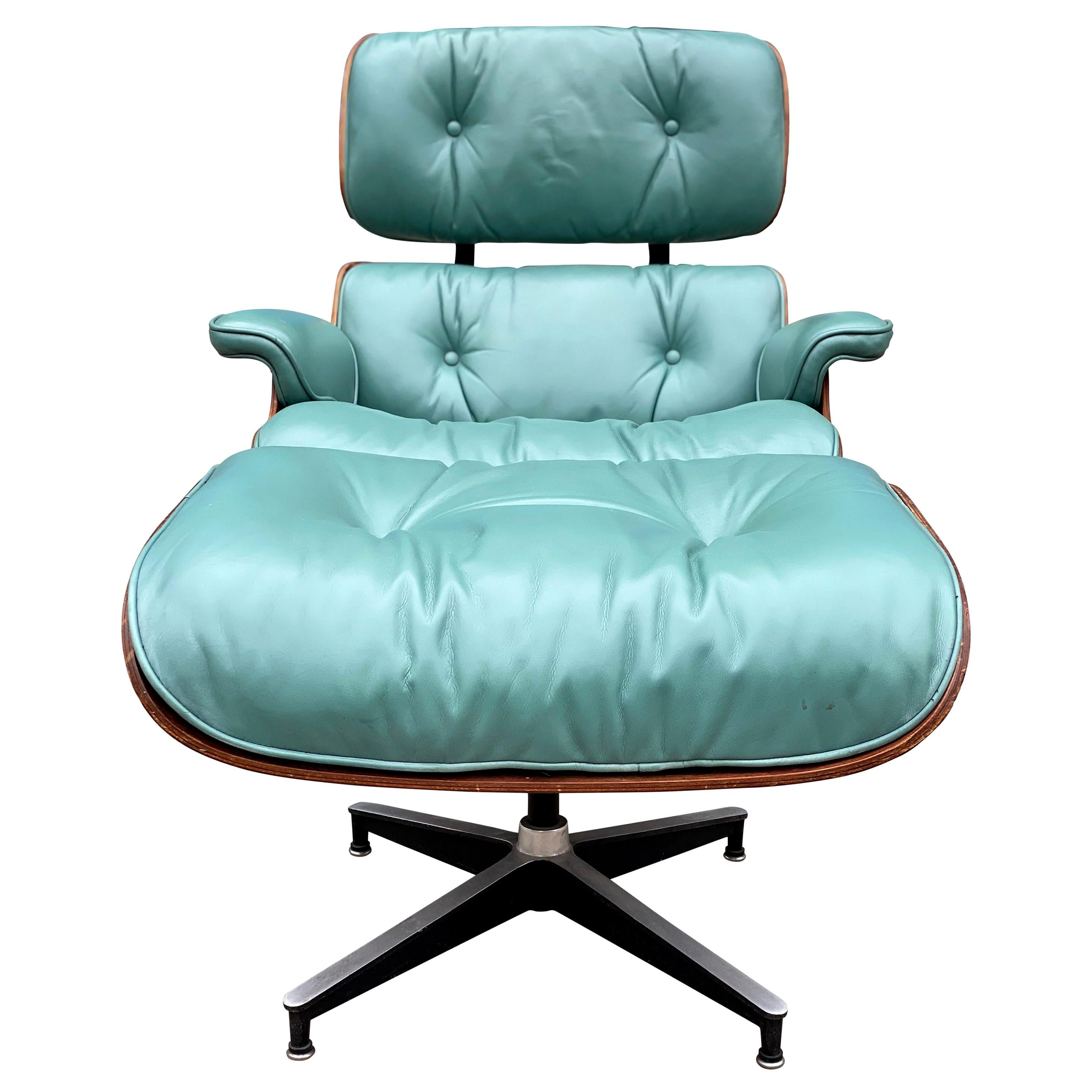 Rare Custom Herman Miller Eames Lounge Chair and Ottoman