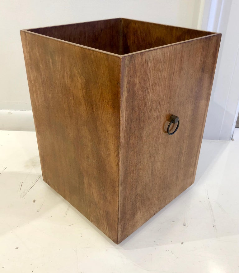 Modern Rare Custom Robsjohn-Gibbings Wastebasket For Sale