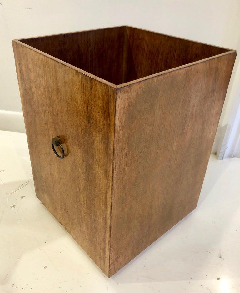 Rare Custom Robsjohn-Gibbings Wastebasket In Good Condition For Sale In Hudson, NY