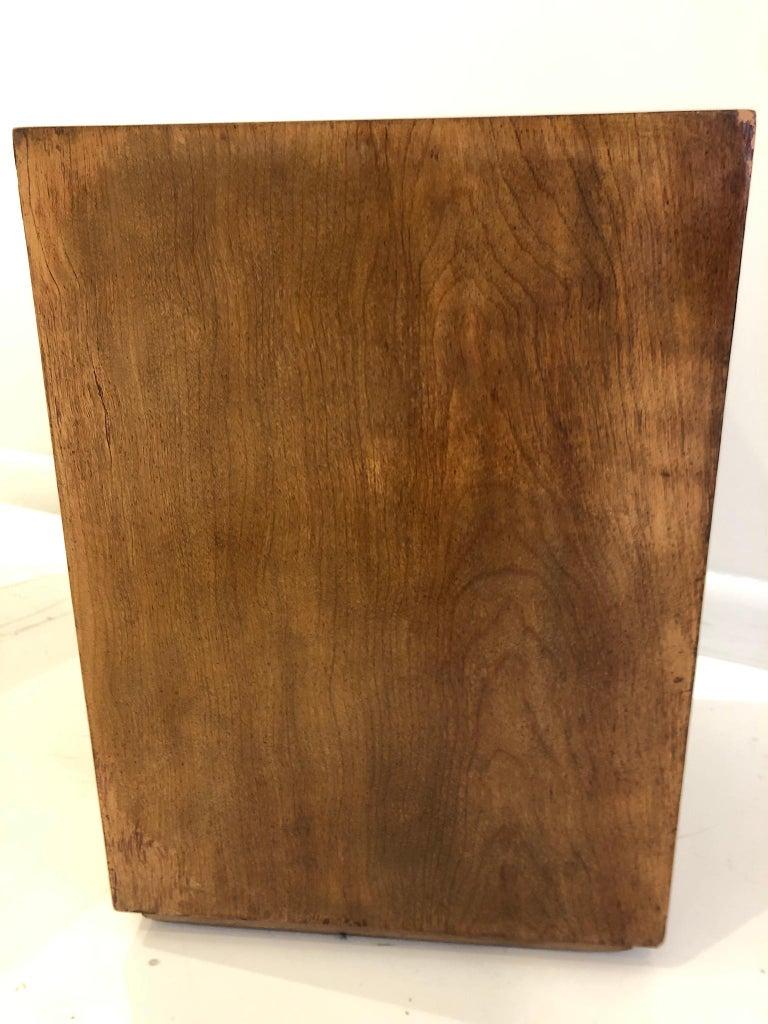 Walnut Rare Custom Robsjohn-Gibbings Wastebasket For Sale