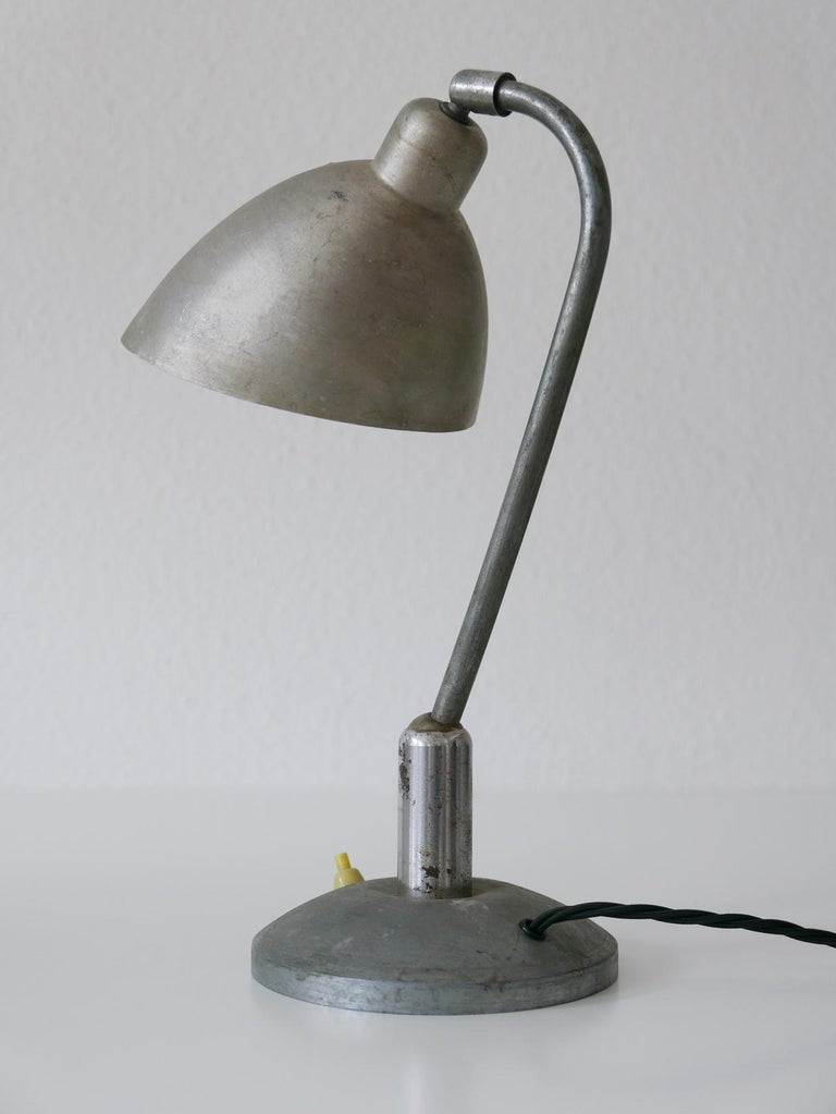 Rare Czech Functionalist or Bauhaus Table Lamp by Franta 'Frantisek' Anyz, 1920s For Sale 9