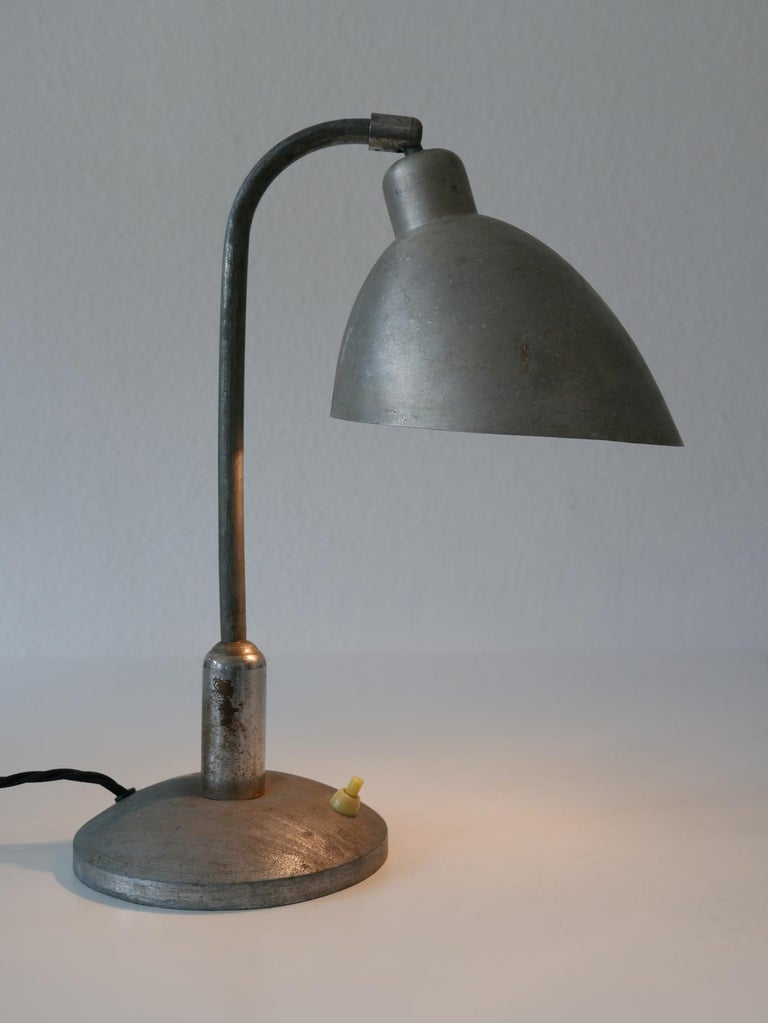 Rare Czech Functionalist or Bauhaus Table Lamp by Franta 'Frantisek' Anyz, 1920s For Sale 3