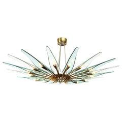 Rare Dahlia Chandelier by Max Ingrand for Fontana Arte