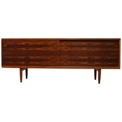 Rare Danish Credenza / Sideboard Model 20 by Niels Otto Moller 1950 Rosewood