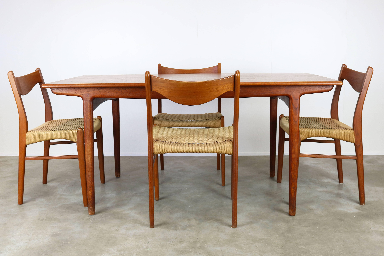 Rare Danish Dining Room Set By Ejner Larsen U0026 Aksel Bender Madsen Teak  Papercord