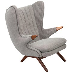 Rare Danish Model 91 Wingback Armchair by Svend Skipper for Skipper Møbler, 1950