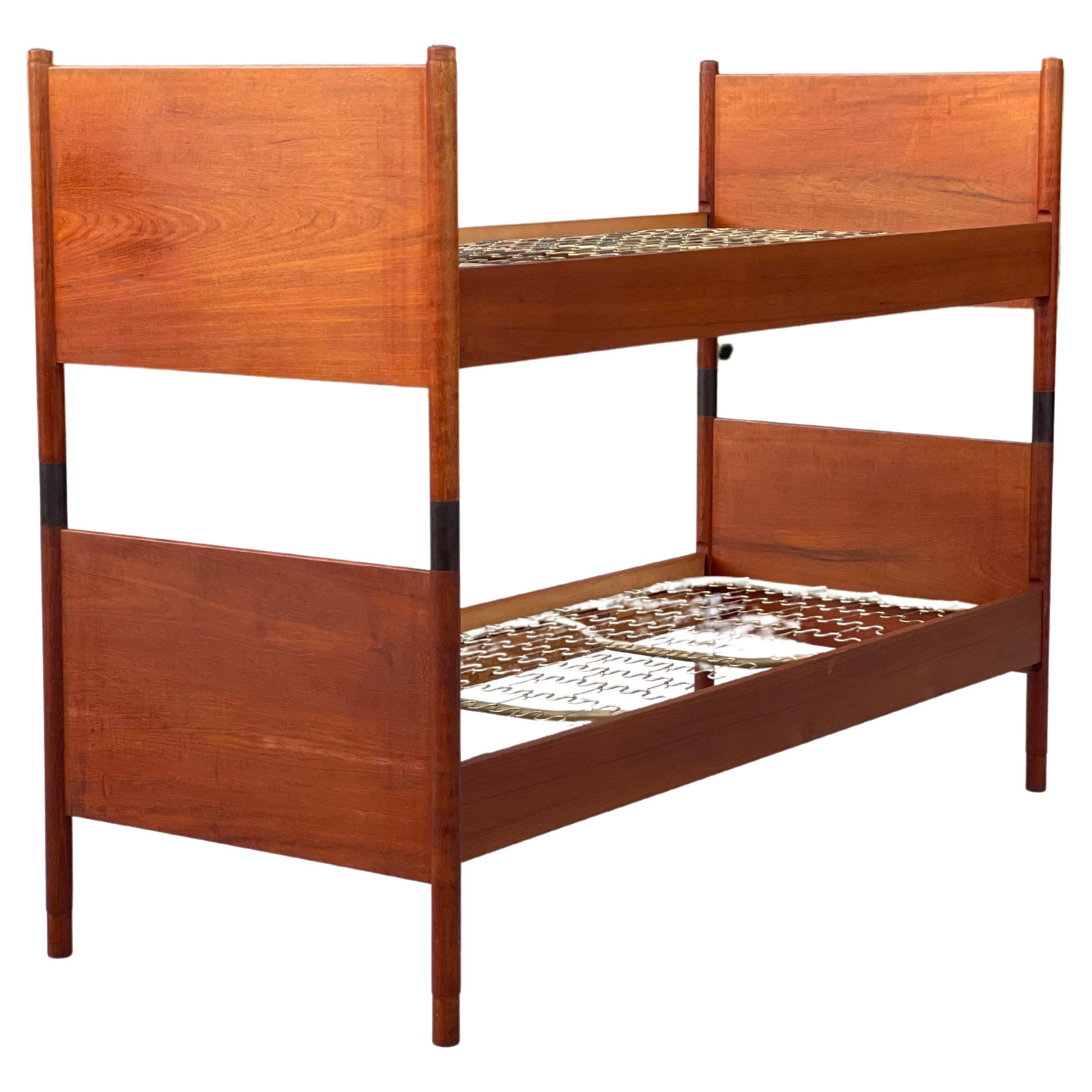 Rare Danish Modern Petite Bunk Beds by Borge Mogensen in Teak