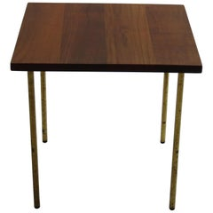 Rare Danish Teak and Brass Side Table by Peter Hvidt for France and Daverkosen 1
