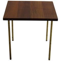 Rare Danish Teak and Brass Side Table by Peter Hvidt for France and Daverkosen 1
