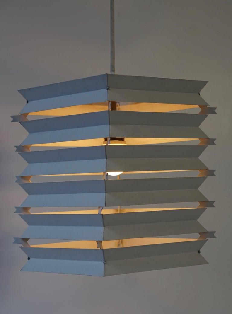 Rare Danish White Metal Ceiling Pendant, Mid-1960s For Sale 5